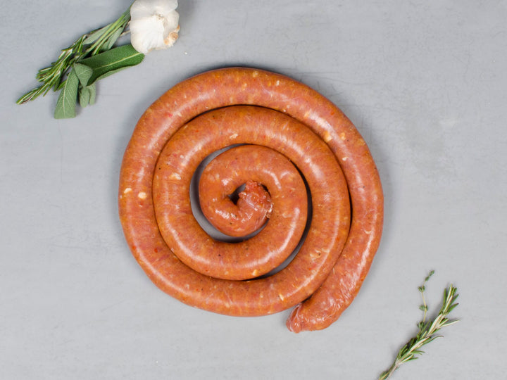 HOT ITALIAN HERITAGE SAUSAGE, Three 1lb wheels — from New York City's own Pepe Giocoli