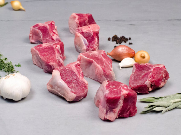 GOAT LOIN CHOPS, Twelve chops, 3oz each — Shannon Creek Farm