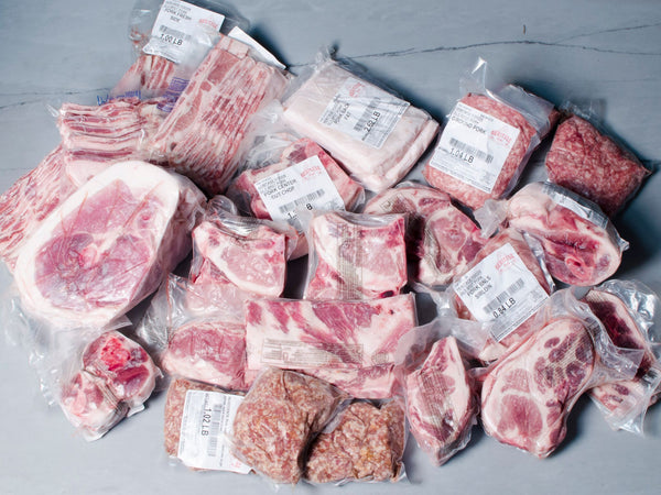 QUARTER HOG SHARE, 40lb in individual cuts — You choose from our 5 heritage breeds, each one with its own taste profile!