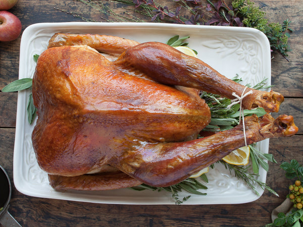 HERITAGE TURKEY (FROZEN), Raised by Frank Reese on Good Shepherd Poultry Ranch — You Choose The Weight (8-10lb, 10-12lb, 12-14lb, 14-16lb, 18-20lb, 20-22lb, 22-24lb)