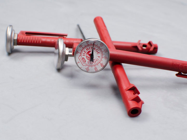 HERITAGE FOODS MEAT THERMOMETER — cook meats to the perfect temperature every time with this indispensable kitchen tool