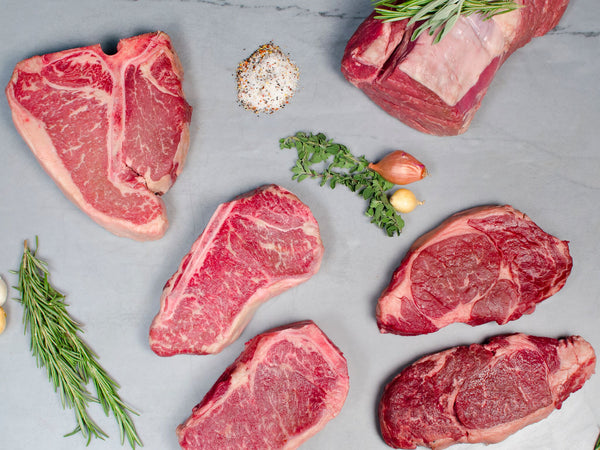 NY STRIP STEAK LOVER'S PACKAGE, Five steaks total, 4.5-5lb — Wagyu — boneless and bone-in