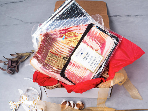 MIX 'N MATCH HERITAGE BACON PACK, Choose Your 3 Favorite Bacon Styles! America's best artisans curing 100% Heritage breeds — Free gift box!