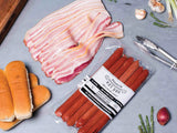 heritage bacon and classic beef hot dogs | delivered to your door! | antibiotic free | Heritage Foods