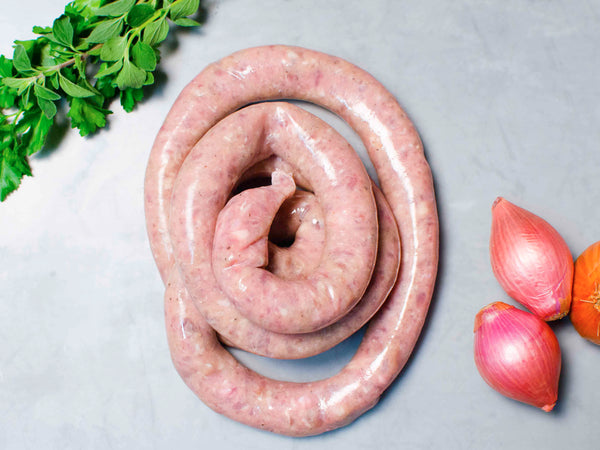 HERITAGE MAPLE BREAKFAST SAUSAGE, Three 1lb wheels — from Little Italy's own Pepe Giocoli
