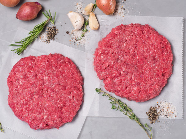 HAMBURGER, Six 8oz patties — Wagyu — Our Signature heritage burger — The best burger we've ever eaten