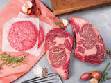 wagyu burger and Wagyu ribeye steaks | delivered to your door! | antibiotic free | Heritage Foods