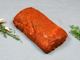 OVEN-READY CALABRIAN PEPPER-CRUSTED BONELESS PORK LOIN, Bold and spicy — tumbled with garlic, salt, and onion