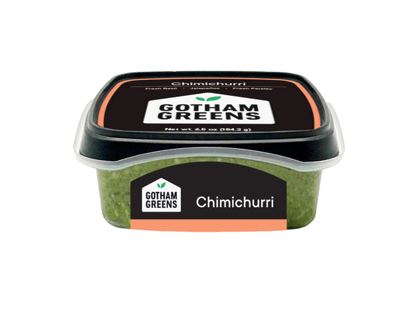 CHIMICHURRI — inspired by the traditional Argentinean recipe, perfect for dipping and marinating, made by Gotham Greens, pioneers in urban agriculture — One 6.5 oz package
