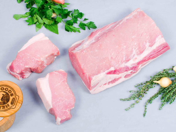PORK LOIN, Boneless — Berkshire or Red Wattle — perfect as a centerpiece or cut into delectable cutlets