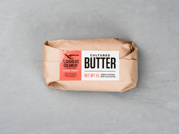 Ploughgate Butter from Saxelby Cheesemongers | handmade salted cultured cream butter | Heritage Foods