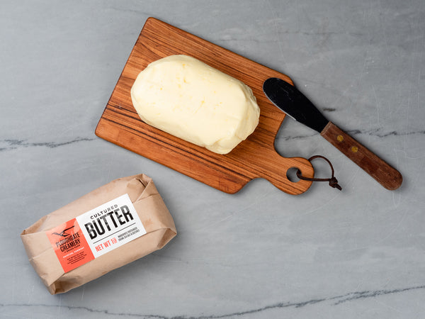 ARTISAN SALTED BUTTER — handmade salted cultured cream butter from Ploughgate Creamery in Vermont — One 1lb block