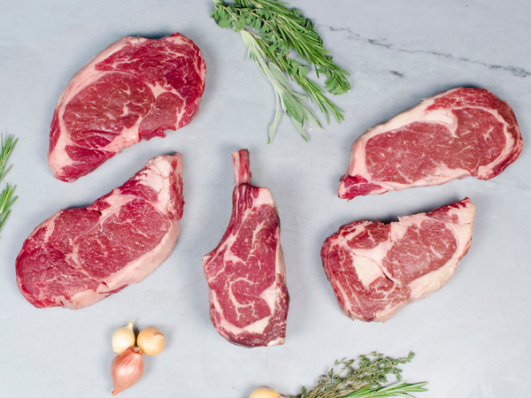 WAGYU RIBEYE STEAK LOVER'S PACKAGE, Five steaks total, 4.5-4.75lb — boneless and bone-in