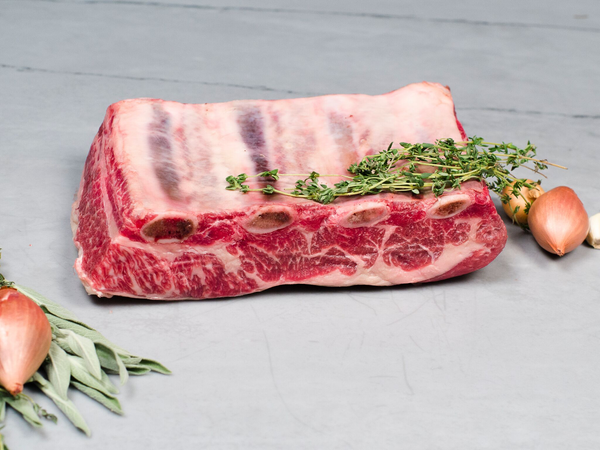 SHORT RIB ROAST, 3-4lb — Pure Akaushi Wagyu — the perfect braising cut of beef