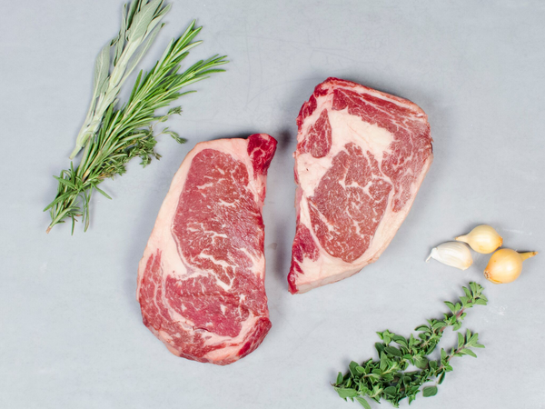 RIBEYE STEAKS, Four 12 oz Steaks — 100% Pure Akaushi, a taste of Japan's prized beef, raised in America