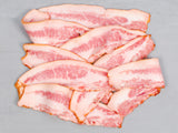 SIGNATURE JOWL BACON, Three 1lb packs, Sliced and Maple Cured — Red Wattle or Berkshire