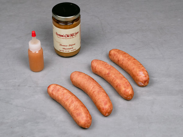 HERITAGE SMOKED KIELBASA, three 12 oz packs, about 4 links per package — Our Heritage Breed Pork Cured in Kansas City, MO