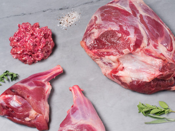 HERITAGE LAMB SHARE, 100% Heritage lamb — leg, shanks, and ground, 13lb total