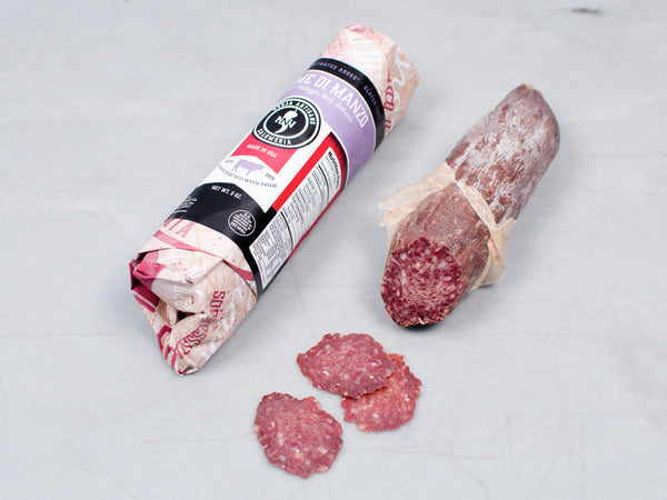 WAGYU BEEF SALAMI, Three 5 oz pieces, Tempesta Artisans — seasoned with thyme, pepper, and Cabernet