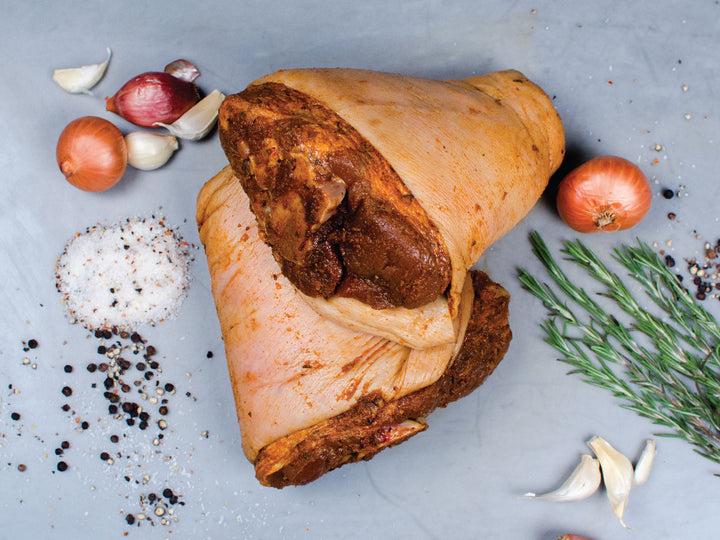 Pre-Seasoned Pork Shank For Two, silky smooth, hearty, and full-bodied.