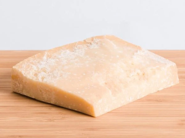 PARMIGIANO REGGIANO (PARMESAN) — aged 24 months to sweet and nutty perfection — for topping pasta or accompanying your favorite heritage salami & prosciutto — raw milk, produced in Italy and sourced by Saxelby Cheesemongers, 8-10 oz piece