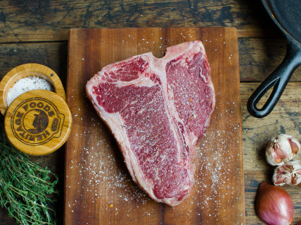 WAGYU PORTERHOUSE STEAK AND OMNIVORE SALT, All you need for the perfect steak! One 30 oz steak and one pack of Omnivore salt