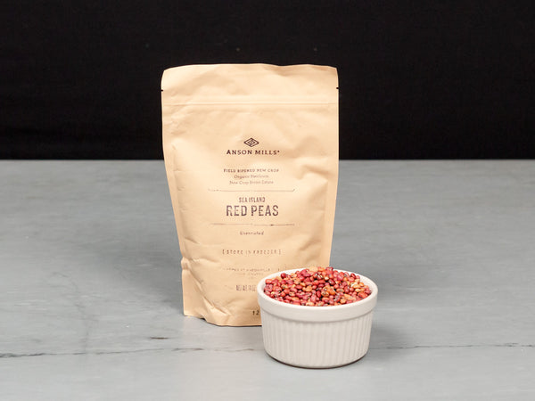 ANSON MILLS SEA ISLAND RED PEAS —  petite, richly flavored heirloom field peas from South Carolina — One 14 oz resealable bag