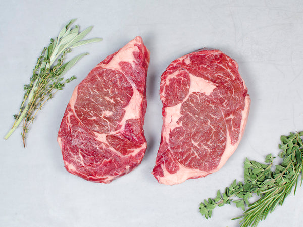RIBEYE STEAKS, Four 14-16oz steaks — Wagyu