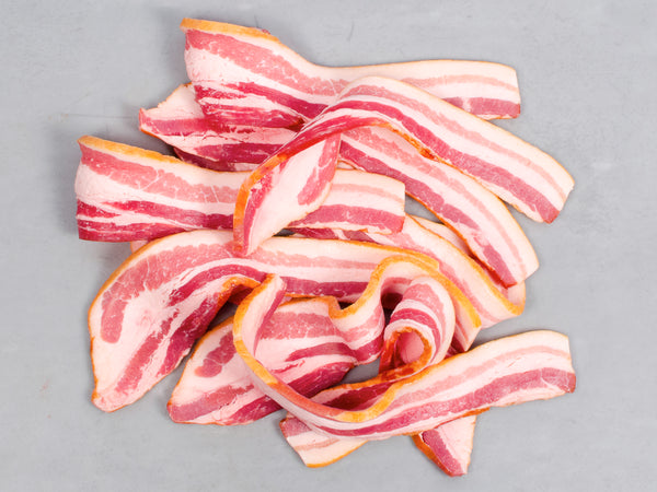 SIGNATURE BACON, Three 1lb packs, Sliced and Maple Sugar Cured — Tamworth or Berkshire — Our most popular bacon