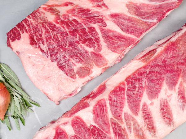 ST. LOUIS RIBS, Two 2.5-3lb slabs — Berkshire or Red Wattle