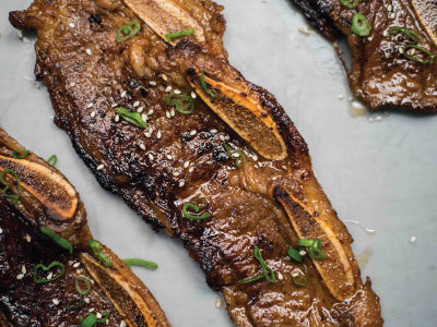 Korean Marinated Wagyu Short Ribs thinly-sliced and marinated for a simple weekday meal in minutes | exceptionally marbled | Heritage Foods