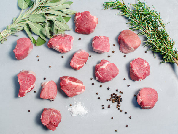 PORK TENDERLOIN MEDALLIONS, 2 oz medallions, 3lb total — Berkshire or Red Wattle