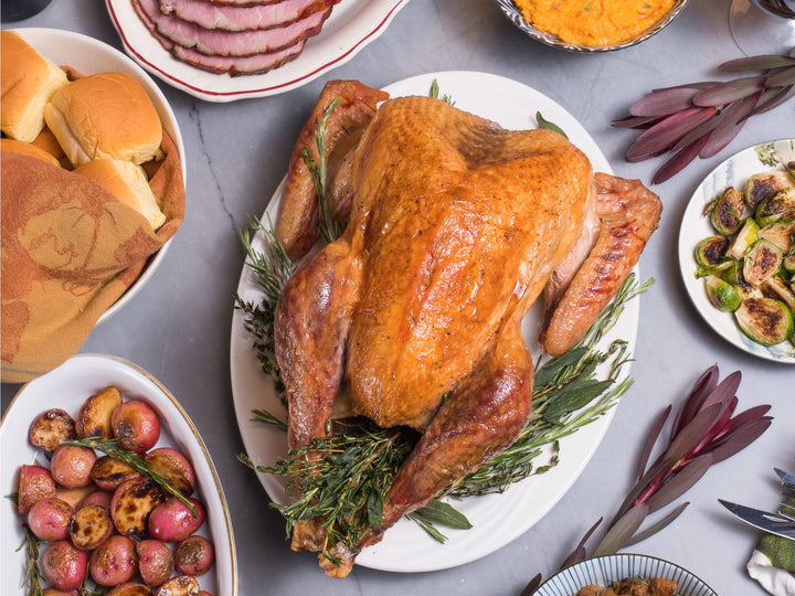 FRESH HERITAGE TURKEY, 8-10lb — America's Oldest Line of Heritage Turkey, 100% Pasture Raised and Antibiotic Free — Delivers fresh Tuesday, November 24th