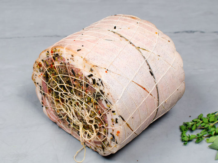oven-ready, pre-seasoned Heritage porchetta, perfect for your holiday dinner. A stunning centerpiece. Rich and flavorful porchetta made with humanely raised heritage breed pork Pasture raised and 100% antibiotic free. Delivered right to your door. Berkshire pork
