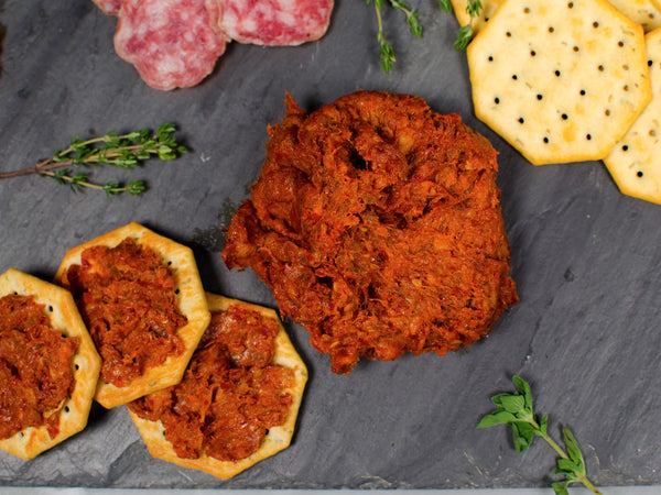 'NDUJA — intensely spicy spreadable salami made with Calabrian peppers by Tempesta Artisans, Three 6 oz packs