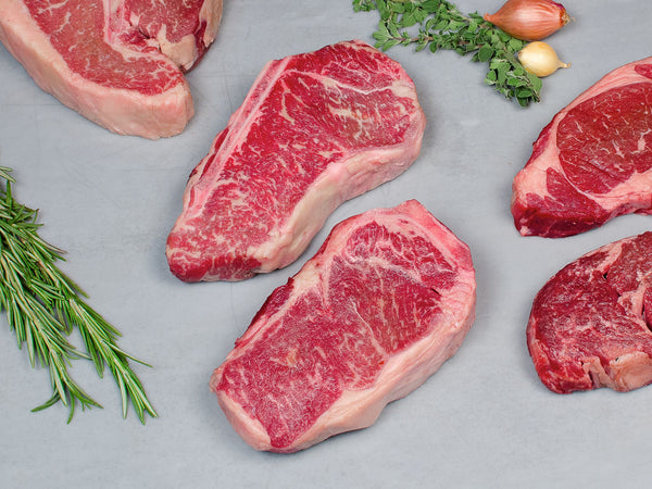 BONE-IN STEAK LOVER'S PACKAGE Three steaks total, 5.25-5.5lb — Wagyu — one ribeye, one strip, and one porterhouse