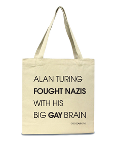 Alan Turing Big Gay Brain Tote
