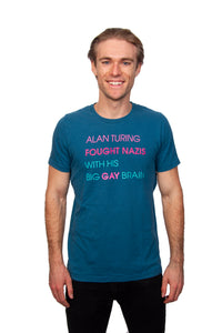 Alan Turing Big Gay Brain T-shirt