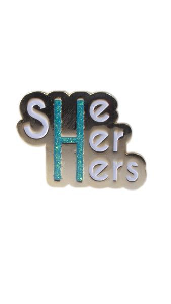 She/Her/Hers Pronoun Pin