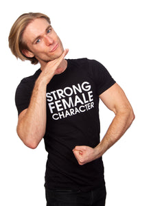 Strong Female Character Black T-shirt