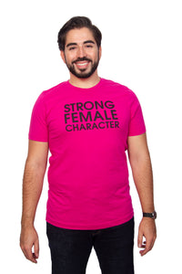Strong Female Character Pink T-shirt