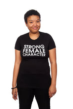 Strong Female Character Black T-shirt - Fitted Cut