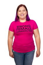 Strong Female Character Pink T-shirt - Fitted Cut