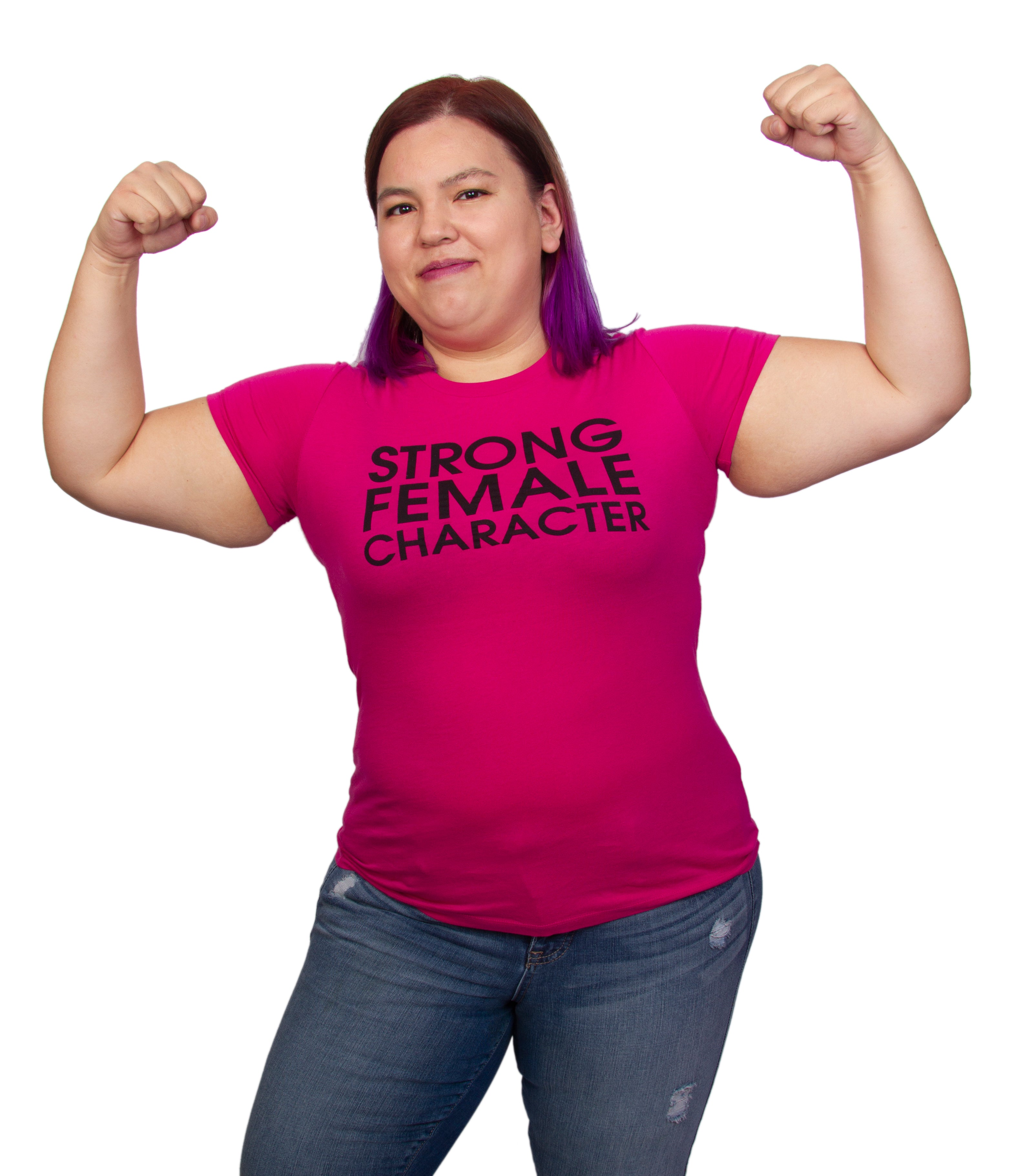 Strong Female Character Pink T-shirt - Women's Cut