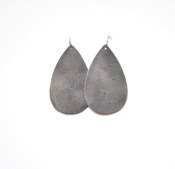 Charcoal Teardrop Earrings