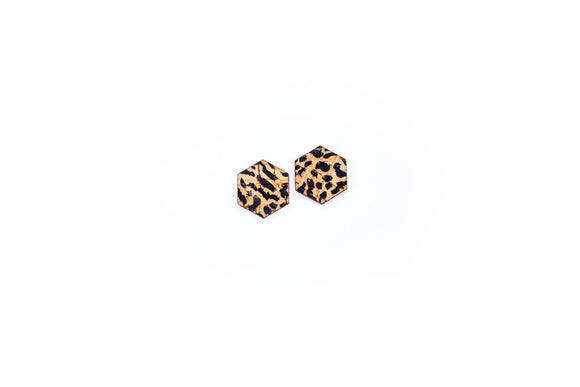 Hexagon Stud • Cheetah