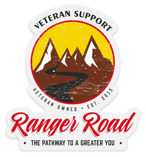 Veteran Non Profit Ranger Road Logo Sticker