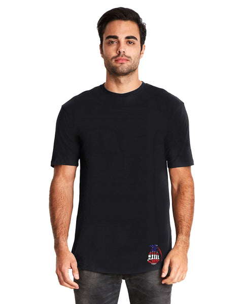 Black Long Body With Red White Blue Logo