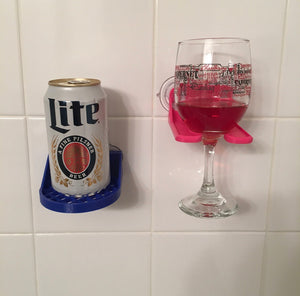 Shower drink holder