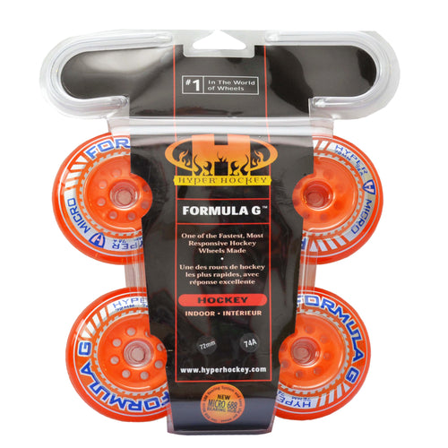 4Pack- Formula G Micro Orange 72mm 74A